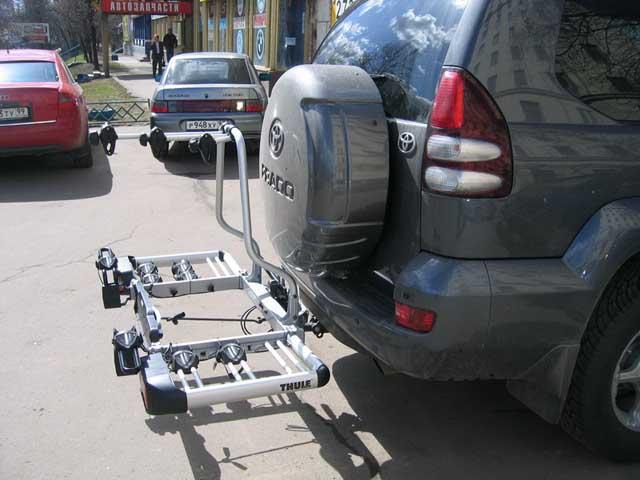 Велобагажник на фаркоп не нарушает аэродинамику авто