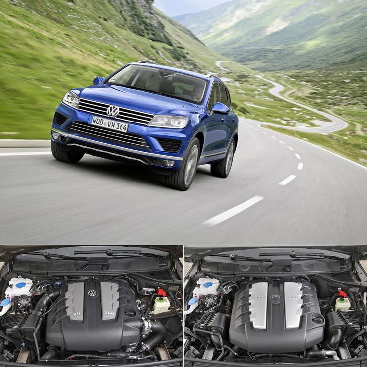 На фото дизельный двигатель: слева - предыдущее поколение, справа - обновленная версия